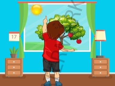 illustration for children book.