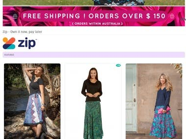 Women Clothing Store eCommerce