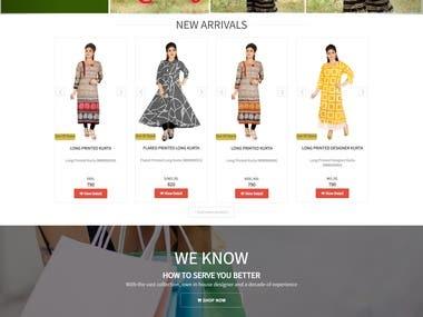 SHOPPING CART WEBSITE | E COMMERCE WEBSITE