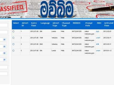 Backend For Manage Classified Details To The NewsPaper