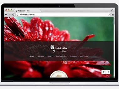 Full Responsive Web Page for Mihikatha Flora (PVT) Ltd