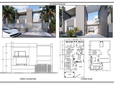 3D Facade and Floor Plans