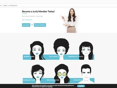 Complete redesign of website (Front End and Back end) using