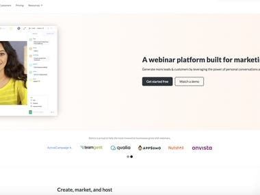 I designed the complete front end of the website