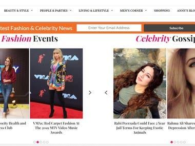 Fashion news Website