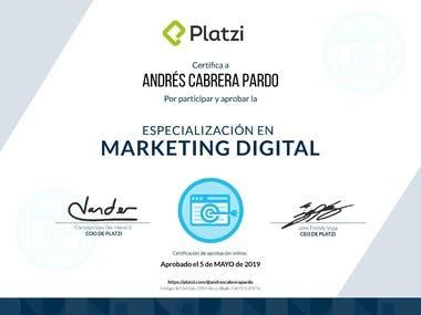 Especializacion en Marketing Digital