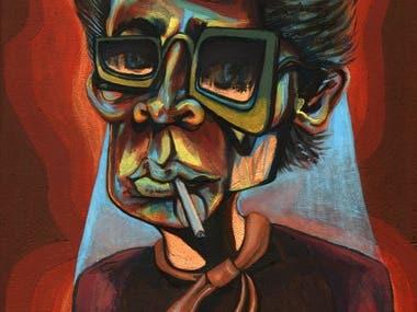 Miles Davis Painting