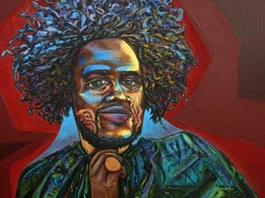 Kamasi Washington Painting