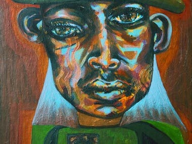 John Coltrane Painting