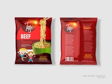 Packaging design for Instant Noodles- Beef Flavour
