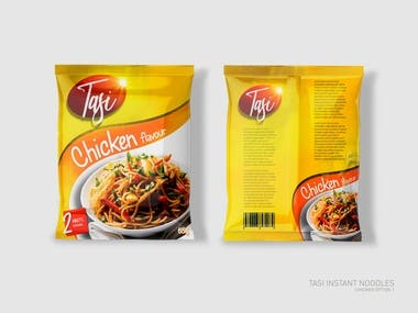 Packaging design for Instant Noodles- Chicken Flavour
