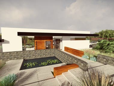 The concept design of the residential house in Madrid