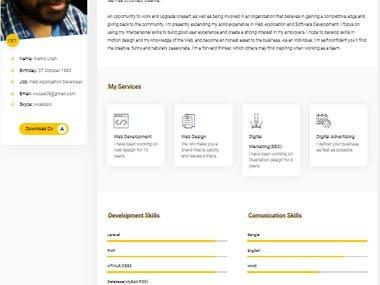 Personal website(Portfolio)