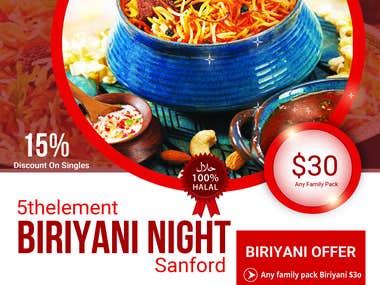 Special Restaurant Event Offer Banner