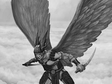 Angel Drawing 2