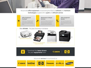 SOE CANON COMPANY Website layout Design