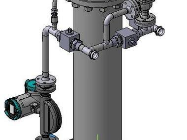 R&D oil measuring unit