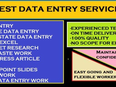 Best data entry service