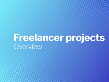 Freelancer projects completed
