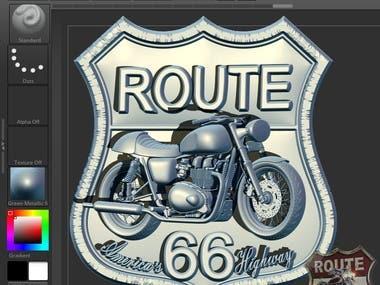 3d route logo