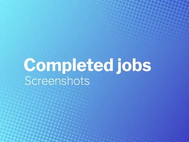 Completed Jobs Screenshots