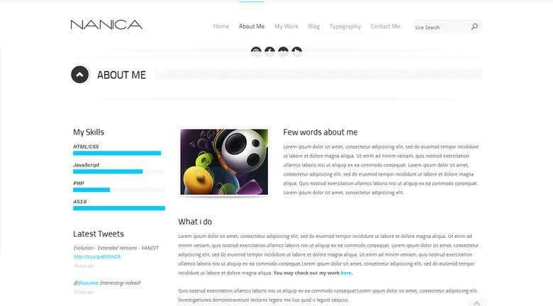 NANICA - One Page Portfolio Template | Freelancer