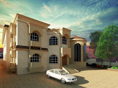 3d for 3 floors willa in UAE