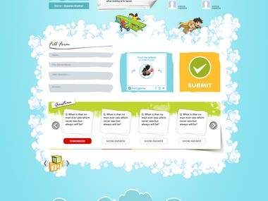 School Web Layout Design