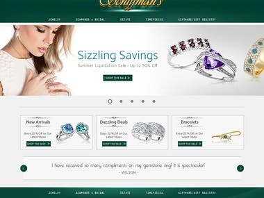 Jewellery Web Layout Design