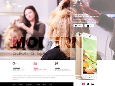 Saloon and Spa Web Layout Desgin