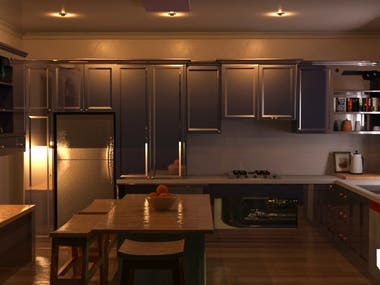 Kitchen interior 3ds max and vray