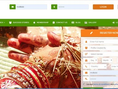Matrimonial Website/apps.