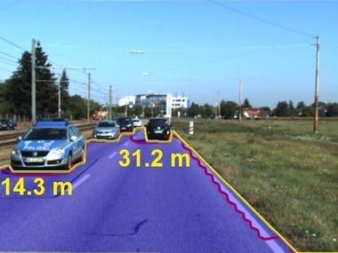 Object Distance Measurement & Lane Detection