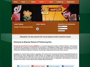 Web Design for Zhankar