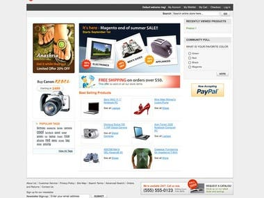Magento 2 ecoommerce store