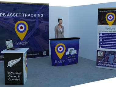 Graphic design for tradeshow booth