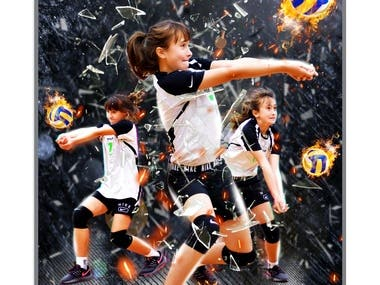 Volleyball Sports Poster