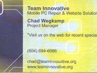 Team Innovative Business Card