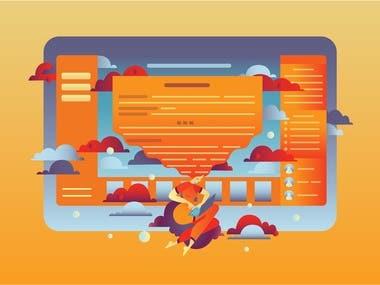 Website flat vector illustrations
