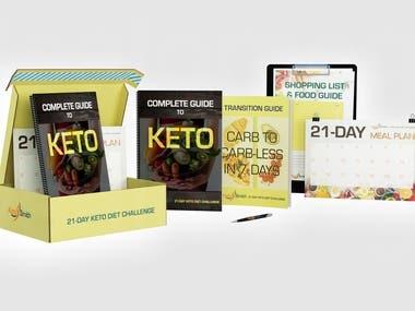 Cover design and mockups for online marketing