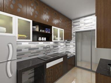 Kitchen 3D view