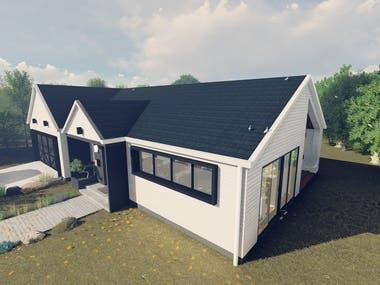 A concept design of modern farmhouse in Napa, California