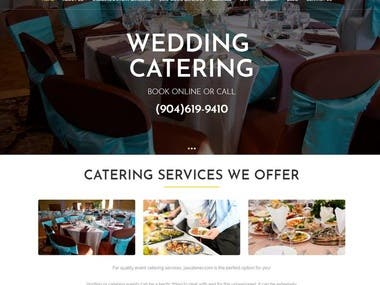 CATERING AND EVENT WEBSITE