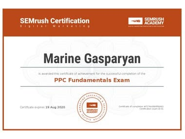 SEMrush Academy Certification