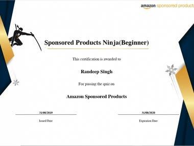 Amazon Sponsored Ads Certified