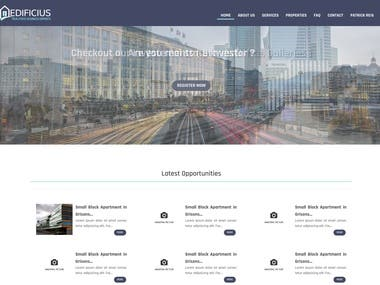 Real state Website for Investementors