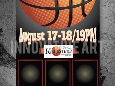 Basket Ball Poster Design