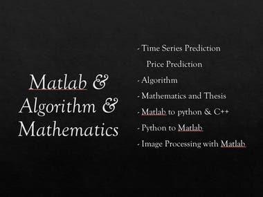 Algorithm & Matlab & Mathematics