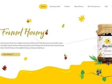 Wordpress website for Honeyveda.in