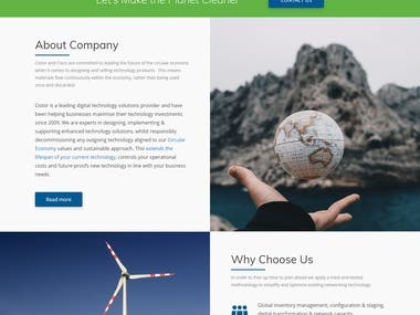 A Networking and It related company website